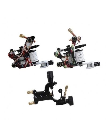3 Makineli Dragon Hawk Dövme Seti - 2 Bobinli 1 Rotary Makine