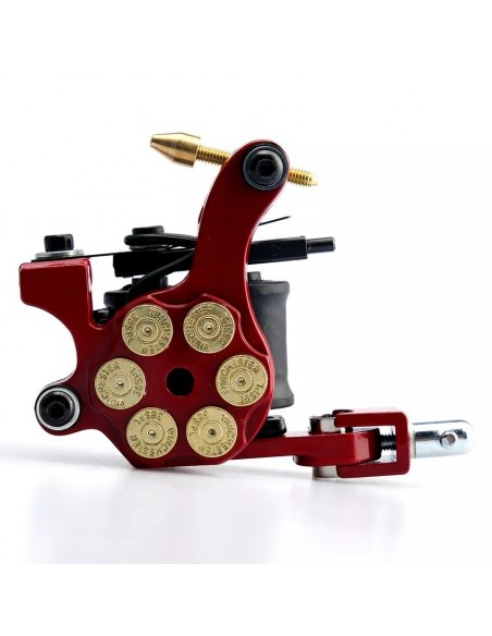Amerikan Phoenixy Red 6 Patlar Dövme Tattoo Makinesi 12 Wrap Çizim - Dolum - Gölge Makinesi