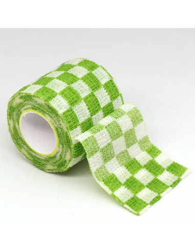 Dövme Makinesi Grip Sargısı - Tutacak Bandı Cover - Yeşil Beyaz Dama Model