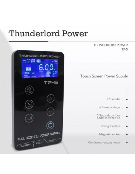 Thunderlord Power TP-5 Tam Profesyonel Dövme Makinesi Adaptörü