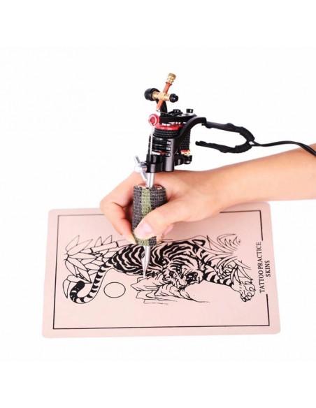 Gri Kamuflaj Desenli Dövme Makinesi Grip Sargısı - Tutacak Bandı Cover