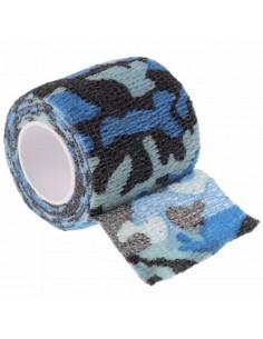 Mavi Kamuflaj Desenli Dövme Makinesi Grip Sargısı - Tutacak Bandı Cover