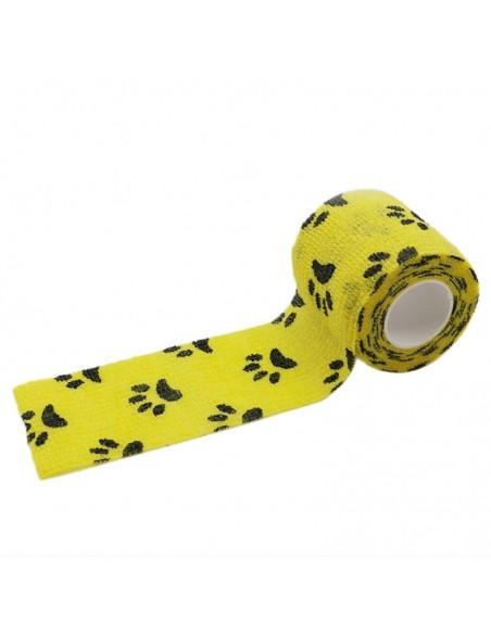 Dövme Makinesi Grip Sargısı - Tutacak Bandı Cover - Sarı Pati