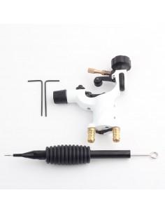 Dövme Makinası Dragonfly Modeli Rotary Grips, Tips, İğne Hediyeli (Beyaz)