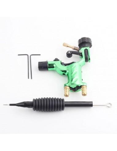 Dövme Makinası Dragonfly Modeli Rotary Grips, Tips, İğne Hediyeli (Yeşil)
