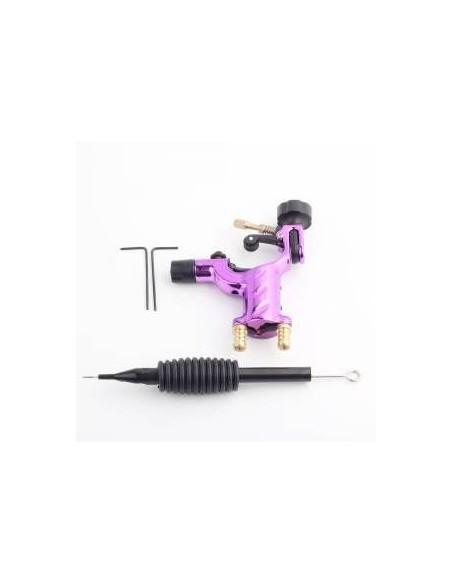 Dövme Makinası Dragonfly Modeli Rotary Grips, Tips, İğne Hediyeli (Pembe)