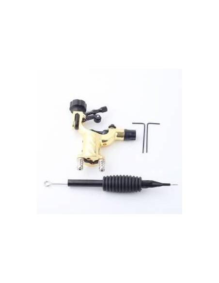Dövme Makinası Dragonfly Modeli Rotary Grips, Tips, İğne Hediyeli (Gold)